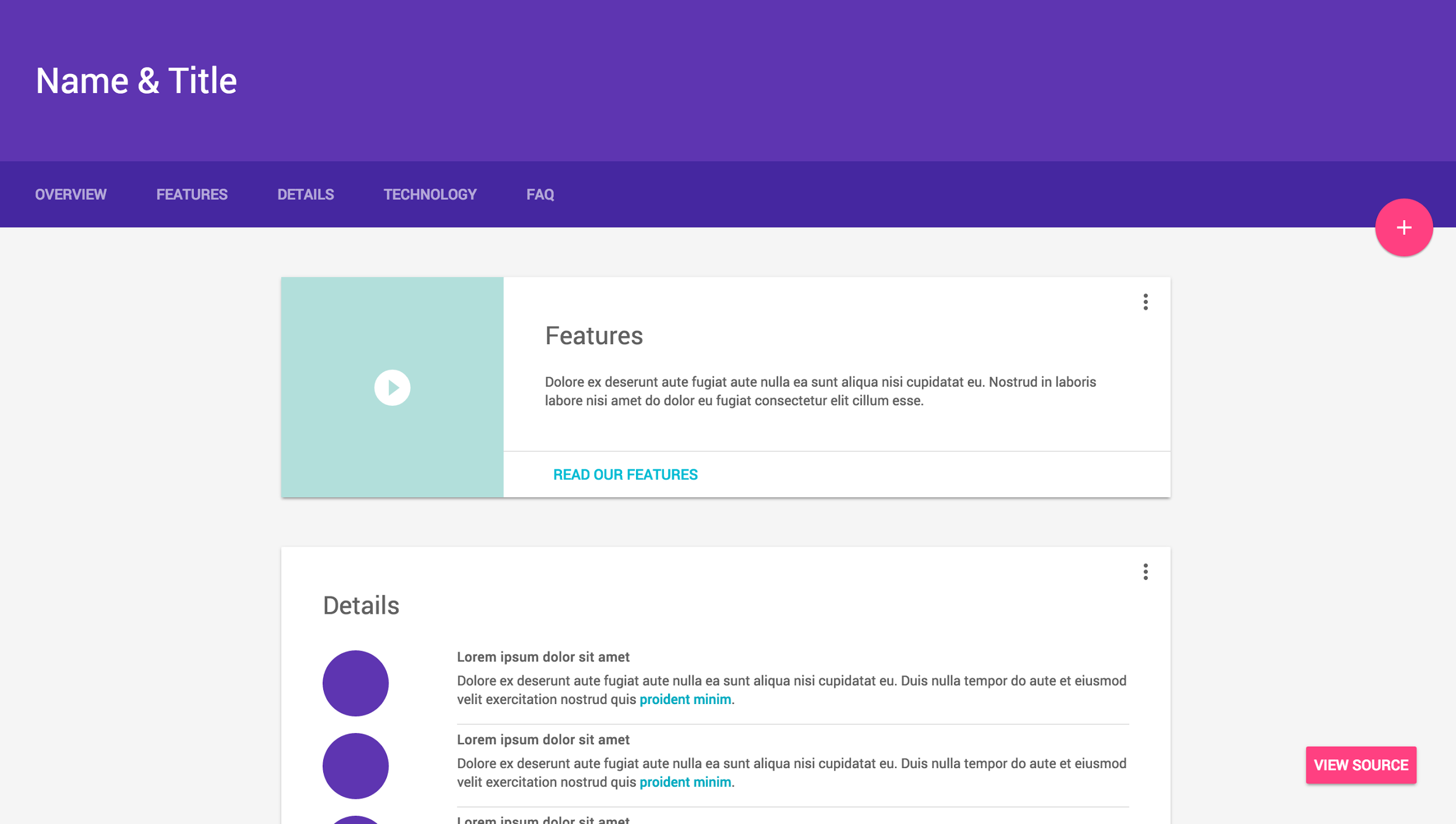 Material design lite for Material design table